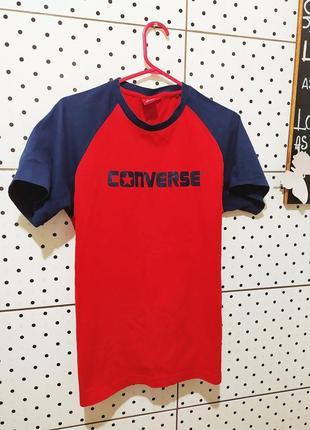 Футболка плотная майка оригинал спорт яркая насыщенный цвет converse m