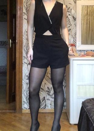 Женский нарядный ромпер комбенизон с шортами top shop s m
