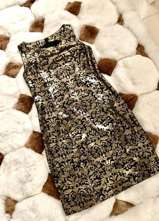 Платье вечернее золотая парча