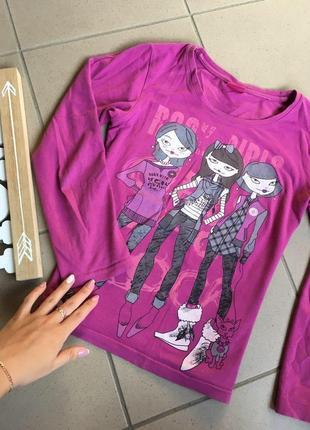 Розовая кофточка на девочку с принтом