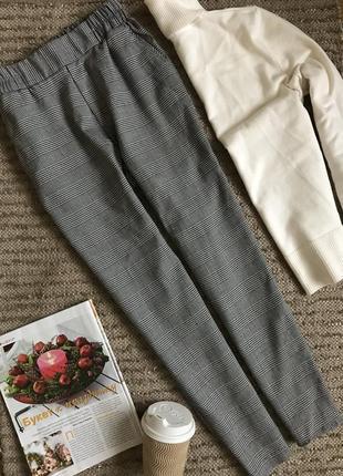 Стильные брюки в клетку zebra.