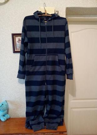 Теплая флисовая пижама кигуруми слип