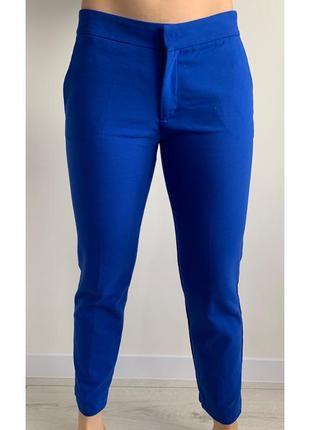 Сині штани, класичні штани, капрі, синие брюки, синие капри.