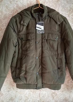 Куртка мужская зимняя defacto - цвет хаки - размер xl 52-54 - турция