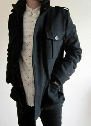 Пальто thomas burberry men single breasted wool coat