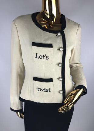 Шерстяной пиджак moschino cheap and chic ( дефект)