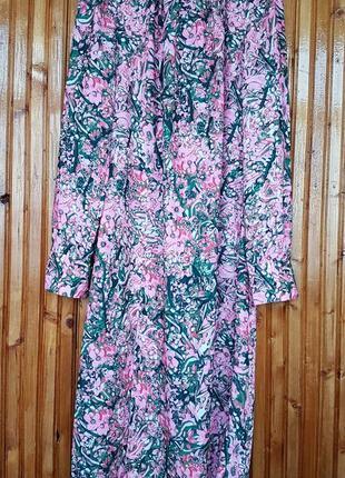 Красивое платье миди h&m в цветочный принт