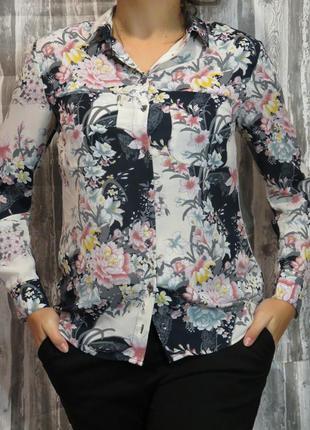 Блуза с длинным рукавом  oasis размер 48-50