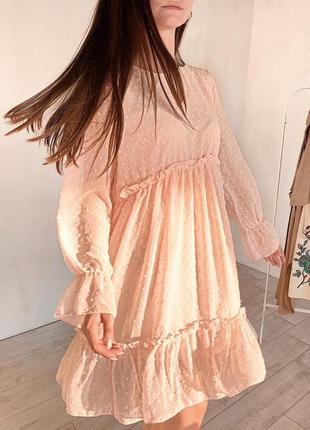 Шифоновое платье универсального размера😍
