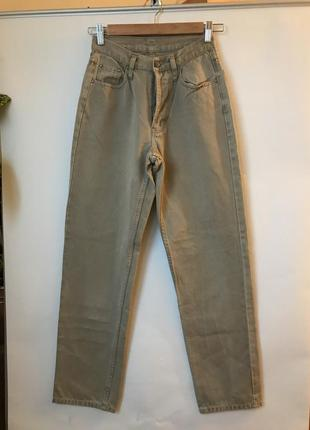 Идеальные джинсы мом бойфренды песочного цвета высокая узкая талия teddy's