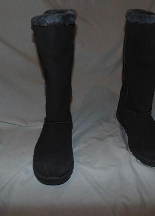 Сапоги ботинки уги замша и мех утепление skechers оригинал новые размер 37