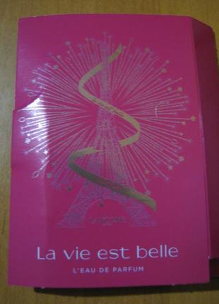 Lancome la vie est belle парфюмированная вода (пробник 1,2 мл)