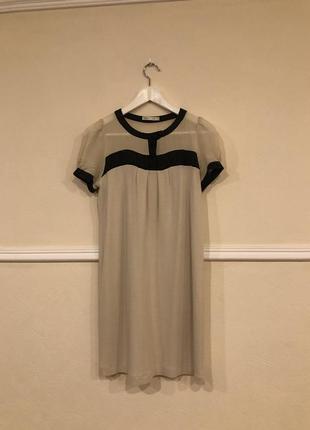 Нежное платье на пуговицах вверху