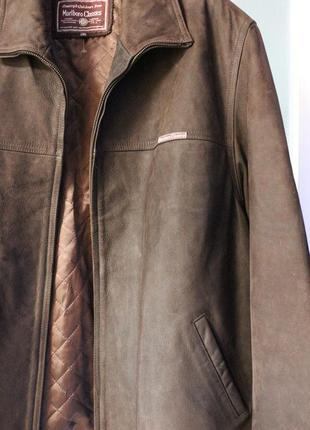Мужская кожаная куртка marlboro classics оригинал