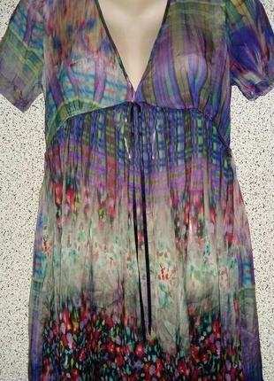 Шелковая туника платье от бренда silver creek black label