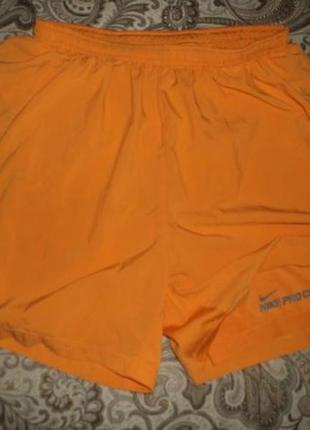 Шорты для бега nike running dri-fit pro combat оранжевые