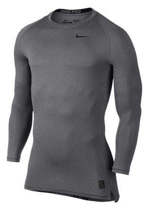Лонгслив nike pro кофта компрессионная термо реглан футболка мужская asics under armour