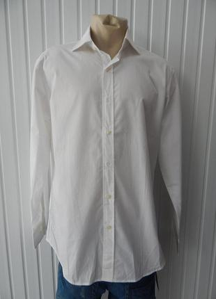Мужская классическая белая рубашка zara
