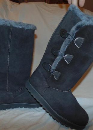 Сапоги ботинки уги замша и мех утепление skechers оригинал новые размер 37 полный