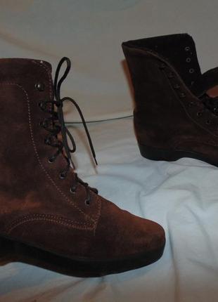 Ботинки сапоги marianna masi италия оригинал замша и утепление шерсть