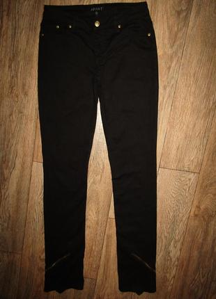 Черные джинсы высокий рост р-р 28-29 стрейч apart