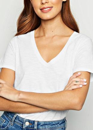 Качественная белая футболка из органического хлопка р.18