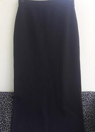 Полушерстяная трикотажная юбка