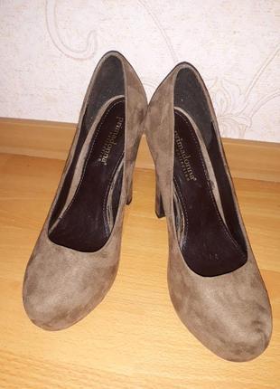 Кожаные туфли, туфли замшевые на высоком каблуке primadonna италия