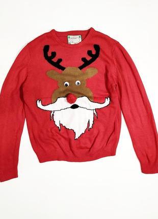❤️смешной свитер с оленем