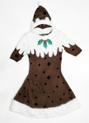 ❤️ новогоднее платье с шапочкой