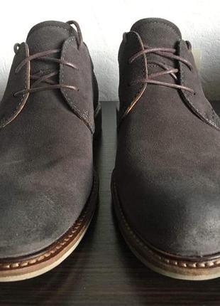 Замшевые туфли ecco