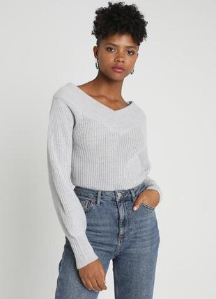 Серый свитер gina tricot