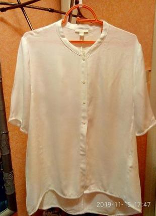 Белая натуральная блузка-туника cos, своя
