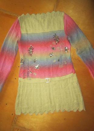 Теплая вязаная туника, свитер