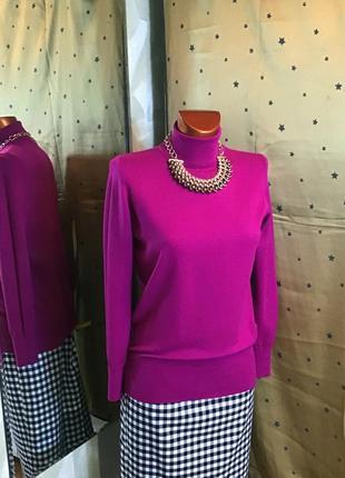 Тонкий эластичный розово бардового цвета гольф от esmara