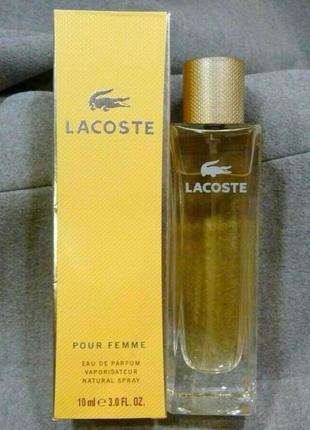 Lacoste pour femme_original_eau de parfum 10 мл_затест