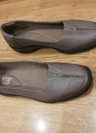 Супер удобные кожаные туфли hotter - comfort concept