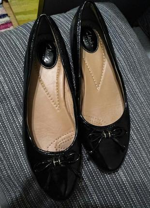 Шикарные кожаные туфли, балетки, размер 39, 39,5