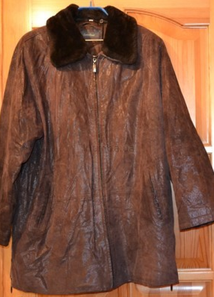 Кожаное пальто размер xl