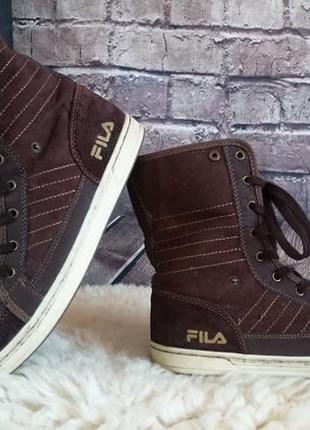 Высокие ботинки fila. оригинал. внутри мех