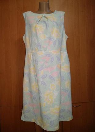 Нежное льняное платье лён и вискоза пог 58 см новое сток