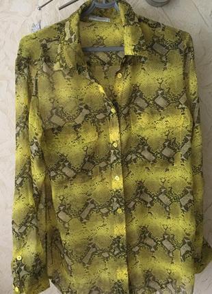 Шелковая рубашка трендовой расцветки
