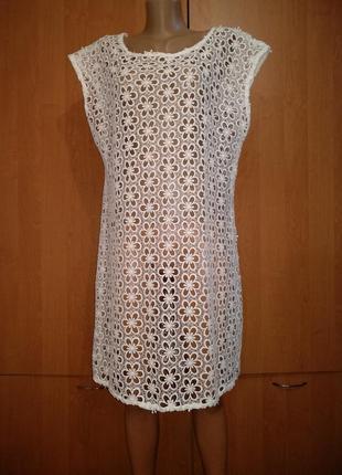 Пляжное ажурное платье пог-56 см сток новое турция