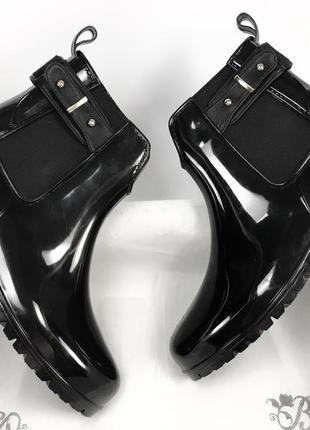 Женские резиновые сапоги чёрные новые качественные брендовые