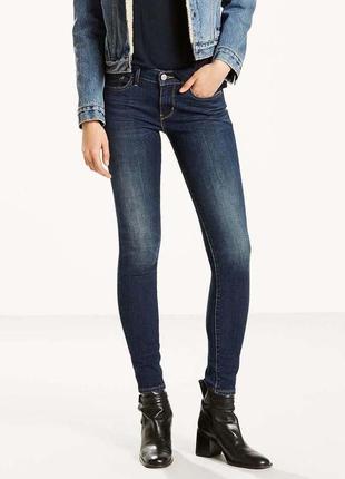 Джинсы levi's super skinny  710 супер скини ливайс xs узкие джинсы
