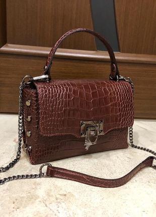 Шкіряна сумка кожаная сумка кроссбоди сумка из натуральной кожи италия