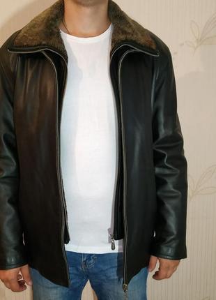 Натуральная кожаная куртка 2 в 1