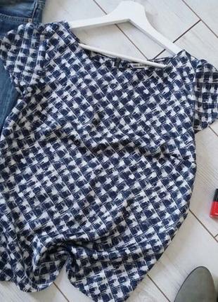 Лаконичная блуза с молнией на спинке..# 514