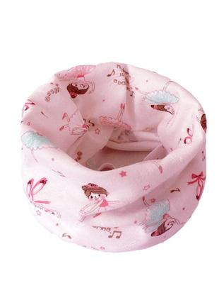 Детский красивый шарфик - хомут для девочки