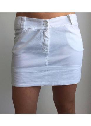 Белая мини юбка, спідниця.